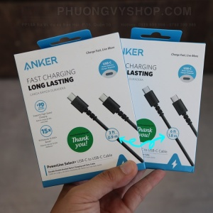 Cáp Anker PowerLine Select+ (Type C to C) (BH15T)